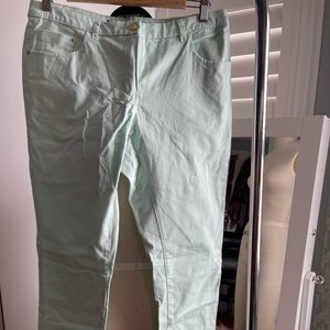 H&M Pastel Mint Green Skinny Jean size 12